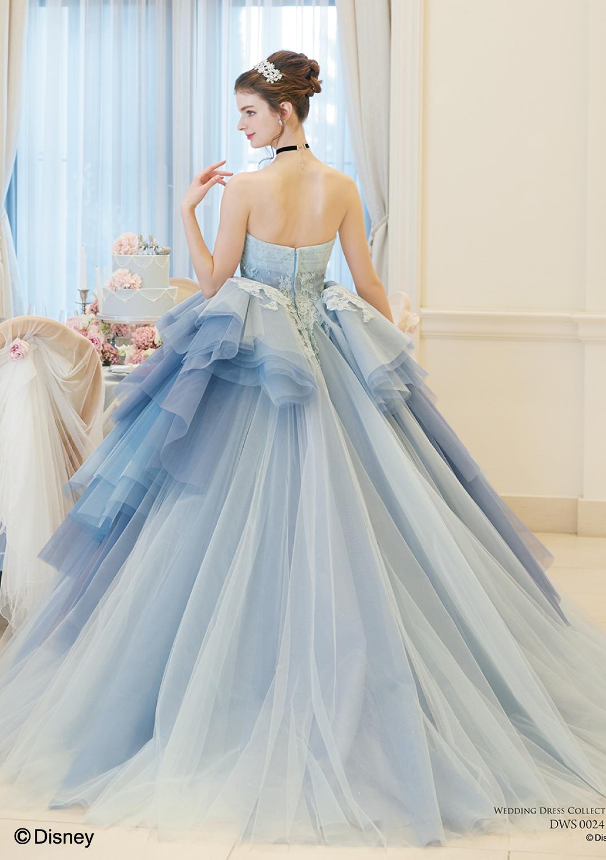 ディズニー ウェディングドレスコレクションDWS0024 blue