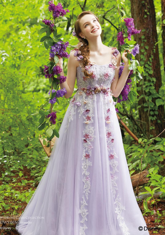 ディズニー ウェディングドレスコレクションDWS0036 lavender